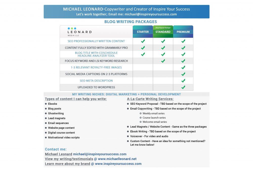 Michael Leonard - Freelance Writer